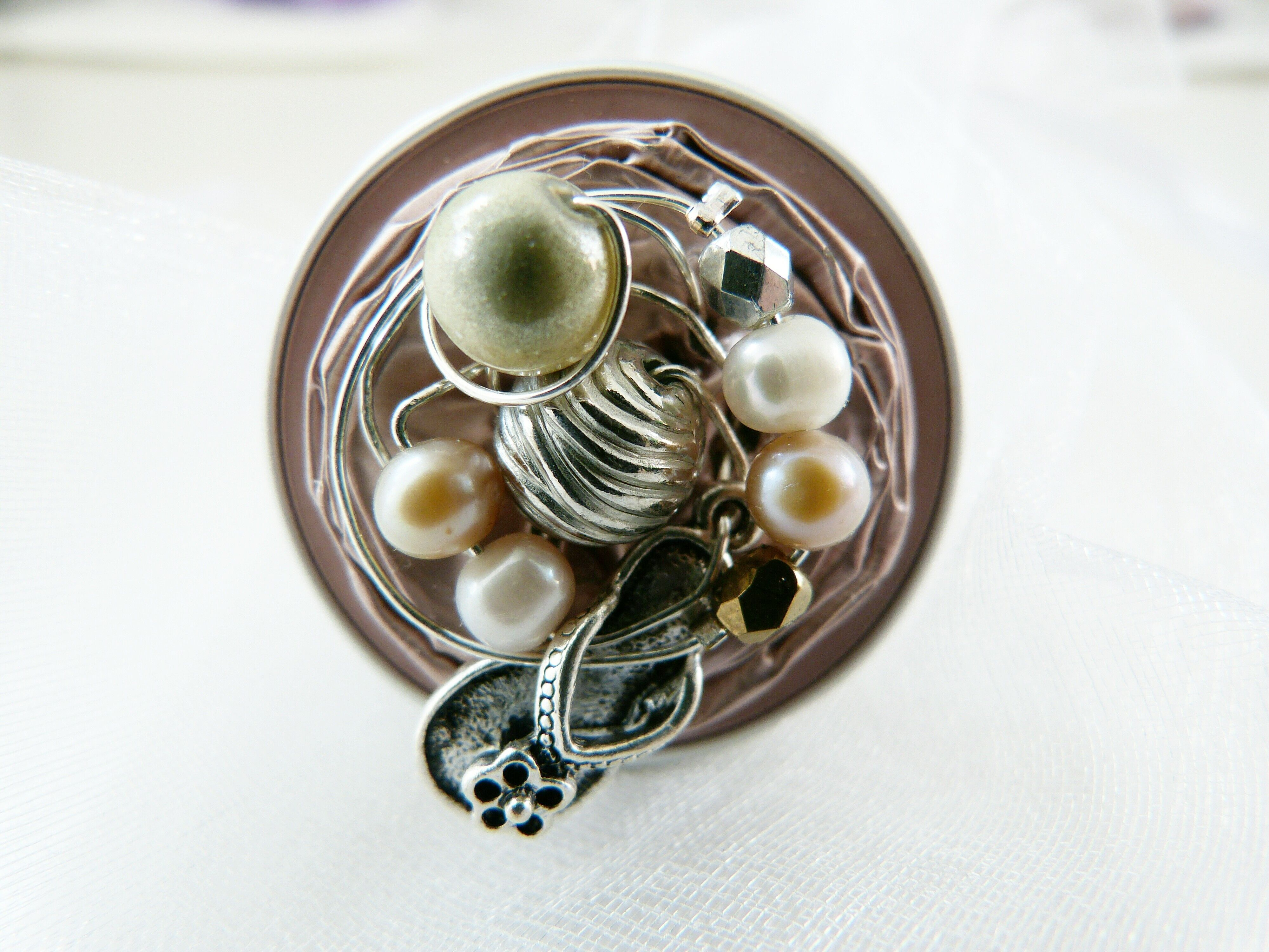 Nespresso Ring one of a kind recyling handmade   https://www.facebook.com/4UGeschenkeonline