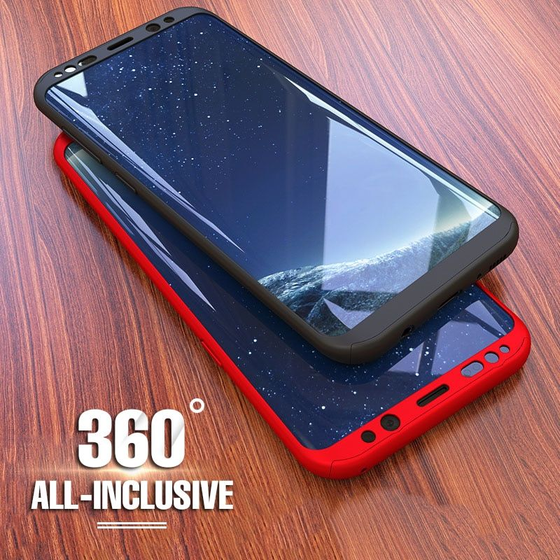 360 Full Cover Shockproof Protective Phone Samsung Galaxy S9 S8 Plus Cover For Samsung S7 S7 Edge Case With Soft Film