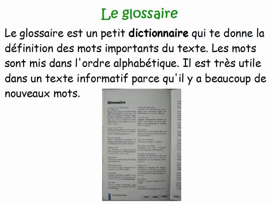 Les Parties D Un Texte Informatif Text Features Text Party