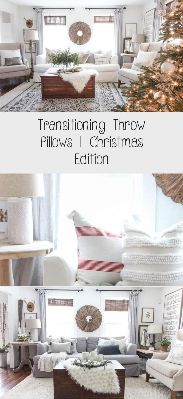 Transitioning Throw Pillows | Christmas Edition - Home Accesories Transitioning Throw Pillows | Christmas Edition | Cozy winter decor and neutral throw pillows. #christmasdecor #christmastime #throwpillows #throwpillowOnBed   #Throw #Pillows #| #Christmas #Edition