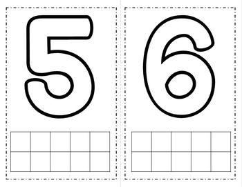 Number {1-10} Playdough Mats | 5 | Pinterest | Number, Number ...