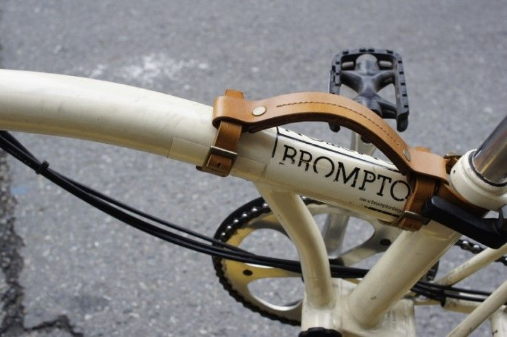 Leather Luggage Pull Strap for Brompton Bicycles