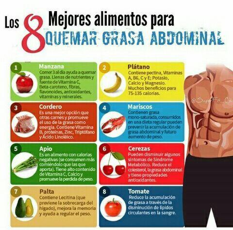 alimentos que ayudan a disminuir grasa abdominal