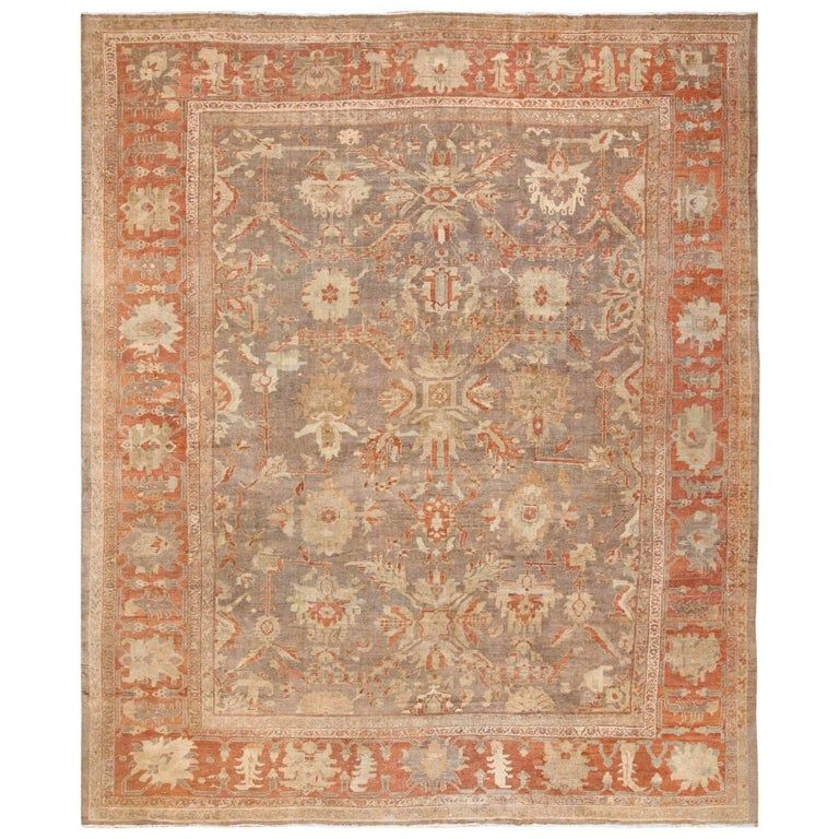 Antique Sultanabad Persian Rug Size 12 Ft 9 In X 15 Ft 2 In 3 89 M X 4 62 M In 2020 Persian Rug Antique Persian Rug Rugs