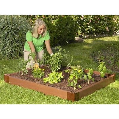 4 style x 4 Foot Outdoor Raised Garden Bed Planter