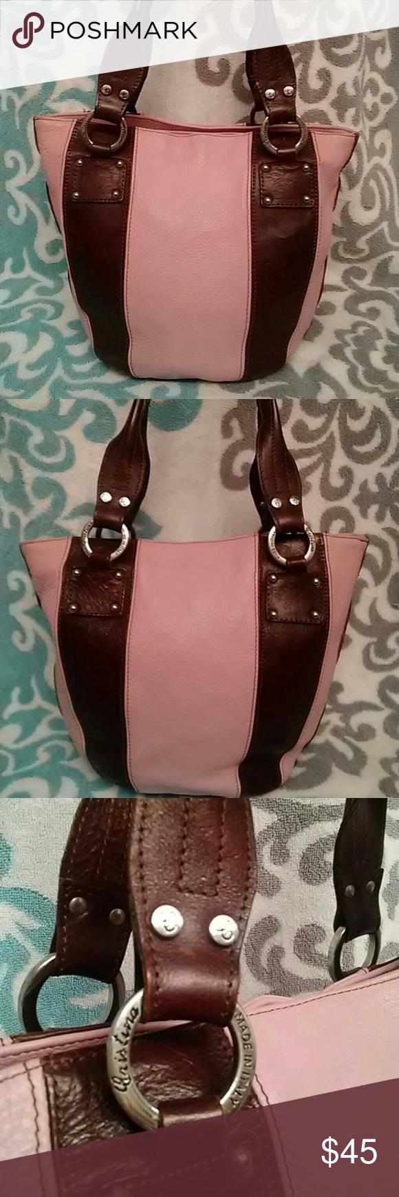 Cristina Italian Leather Bucket Bag Made In Italy Authentic Vintage Handbag Beautiful Fully Lined On Medium Size