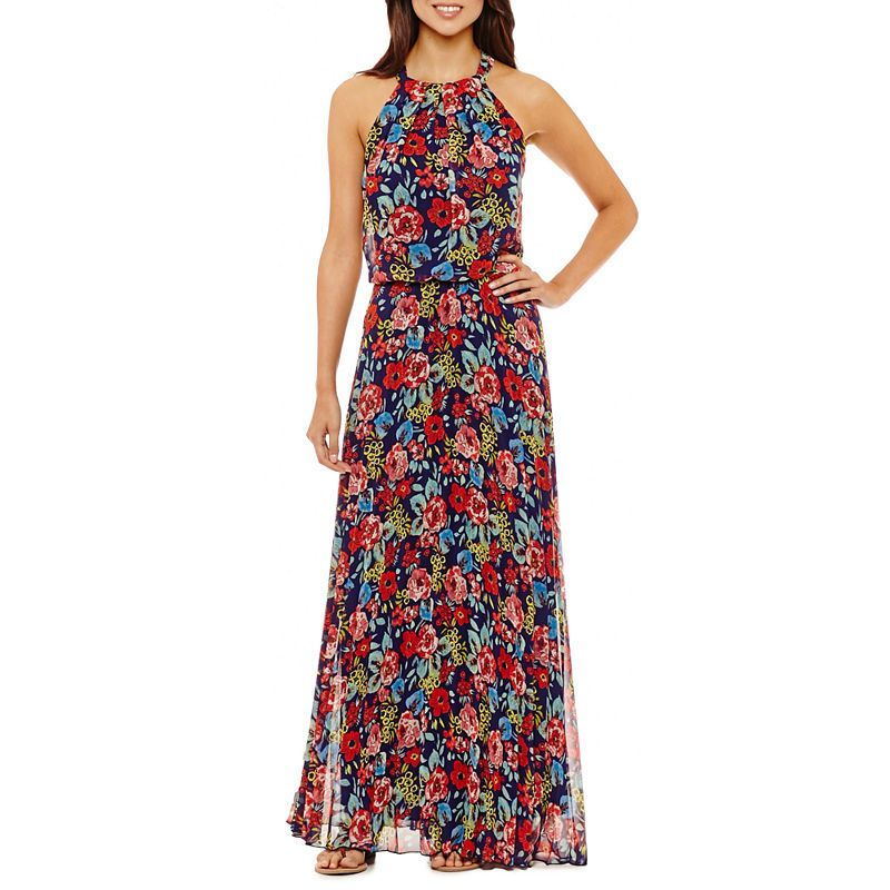 5094263ac82 Rebecca B Sleeveless Floral Maxi Dress