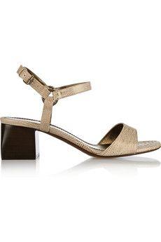 Lanvin Lizard-effect leather sandals | NET-A-PORTER