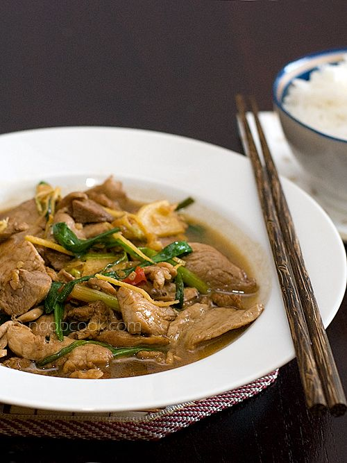 Fave childhood dish stir fried pork in ginger scallions fave childhood dish stir fried pork in ginger scallions this is forumfinder Choice Image