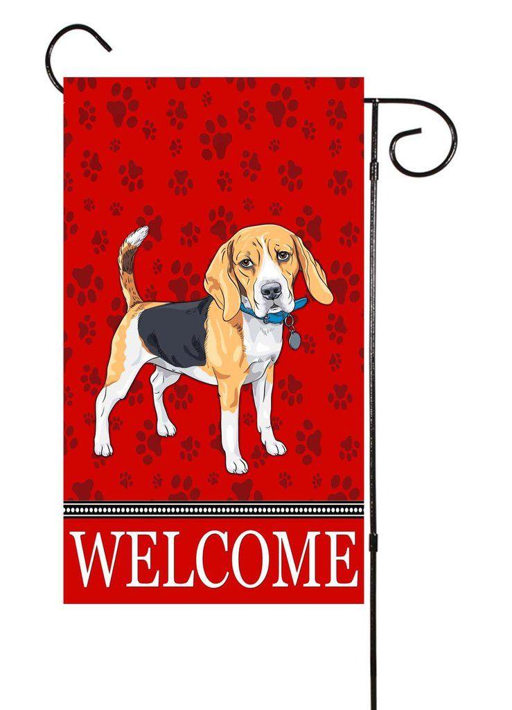 Beagle Garden Flag Dog, Beagle Garden Flag