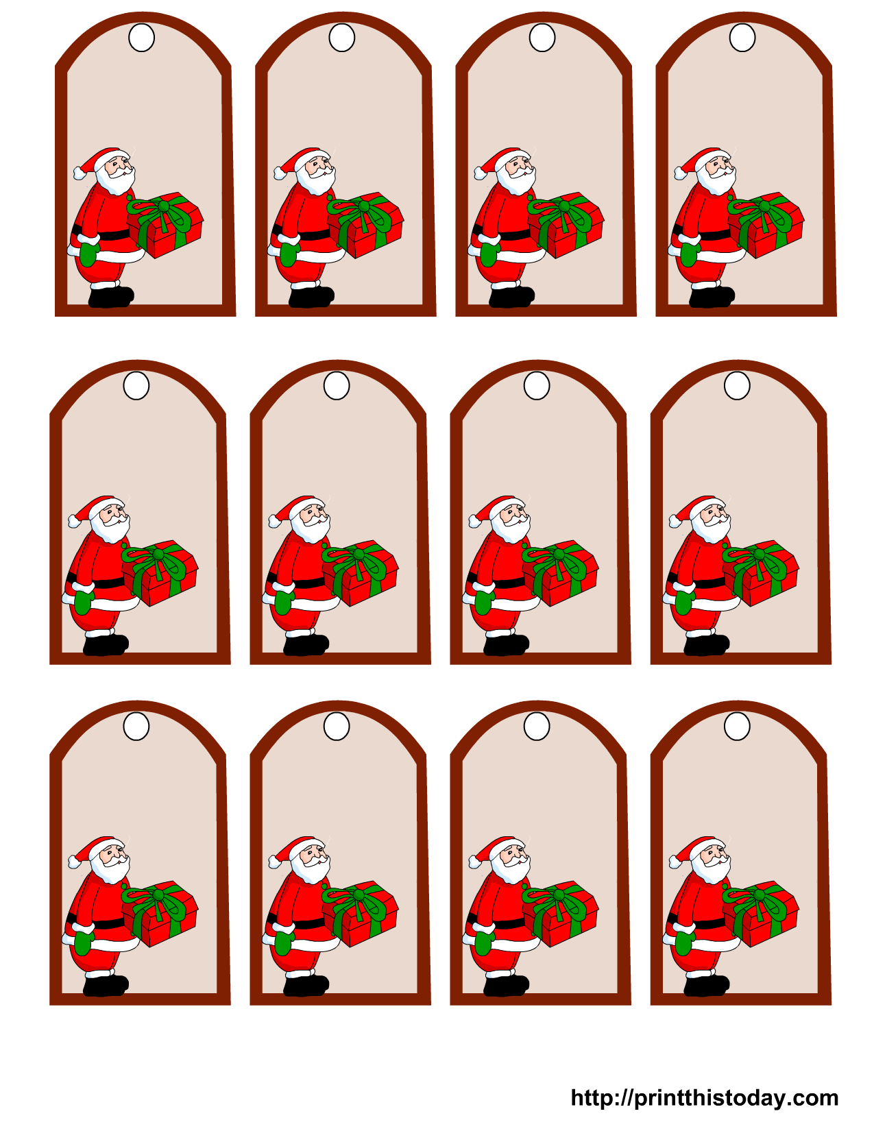 free christmas gift tags to print this is another set of santa
