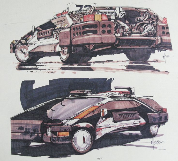 These Amazing Vehicle Sketches Helped Shape The World Of Blade Runner