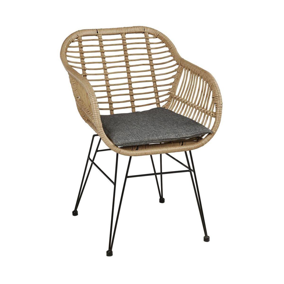 Krzeslo Ogrodowe Orlean Technorattanowe Krzesla Fotele Lawki Ogrodowe W Atrakcyjnej Cenie W Sklepach Leroy Merlin Wicker Chair Furniture Chair