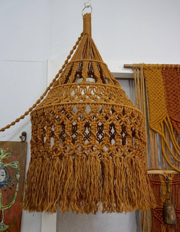 Hanging Organic Macrame Pendant Lamp en 2018   weaving ...