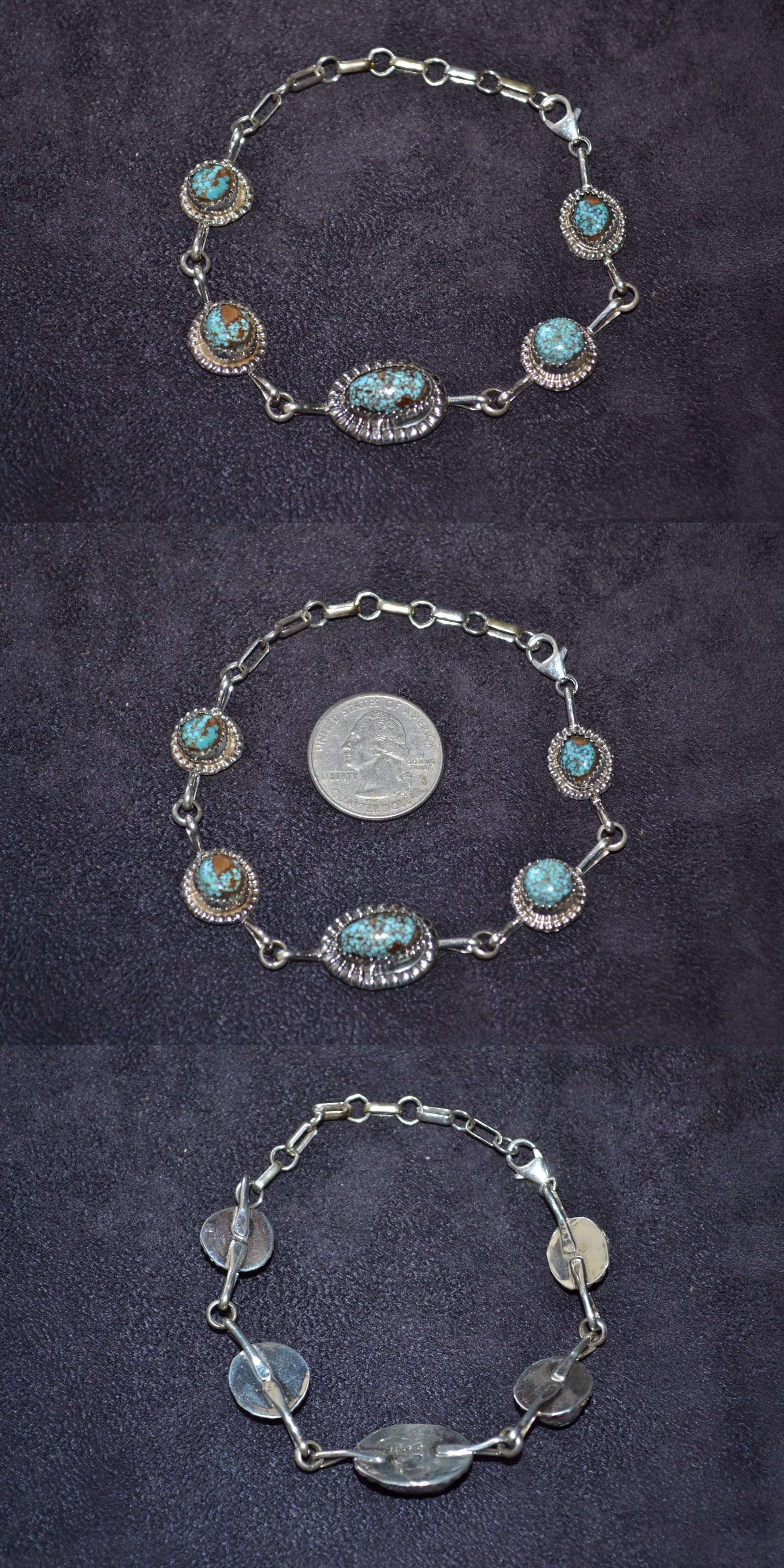 Southwestern 164301: Handmade Sterling Silver And Turquoise Anklet -> BUY IT NOW ONLY: $52.5 on eBay!