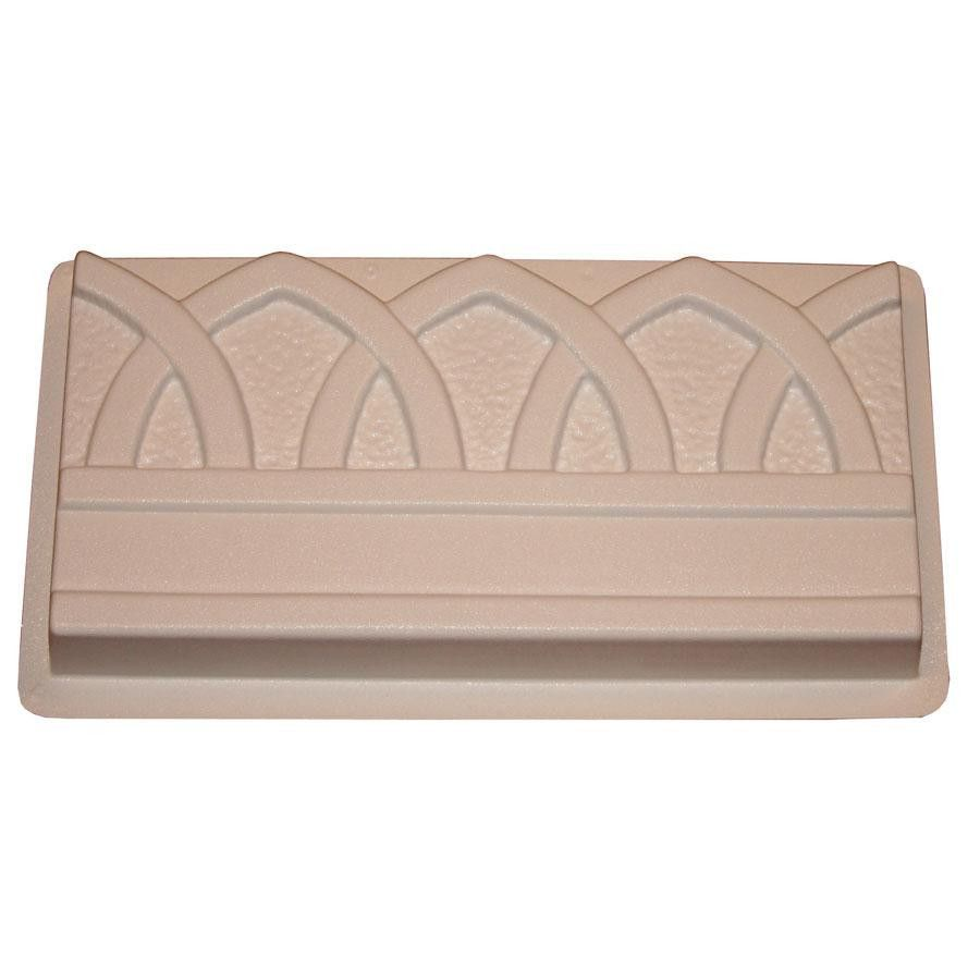 Gothic Arch Garden Edging is part of Cement garden Edging - The Gothic Arch Garden Edging mold uses the architectural style of stone chiseledGothicarches to add uniqueedging around your garden  Whether left a natural concrete color or made of solid color using concrete pigments, the Gothic Arch edging is sure to be a pleasing piece of your garden's design   Create at least 50 pieces or up to 100 with careful use  Finished edgers measure 8 In  x 16 In  x 2 In  Leave natural concrete stone color or add concrete colorants to mix or finish with concrete paints or stains  Chiseled stone detail shows through each edging piece for a handmade look  Beautiful around flower beds
