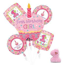 Cupcake 1st Birthday Girl Birthday Party Ideas, Supplies and Decorations