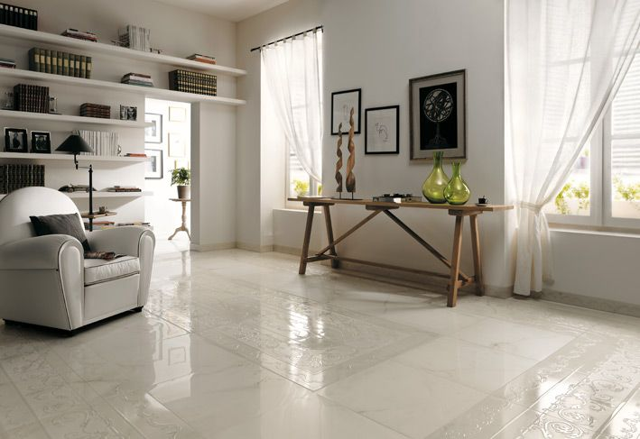 Super White floor tiles | holiday reno ideas | Pinterest | Living ...