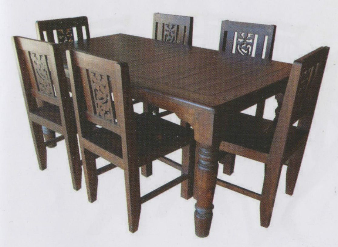 Ds 05 material 100 teak wood dimension table size 90 x 150 x 80 cm or customized chair size 45 x 40 x 100 cm or customized