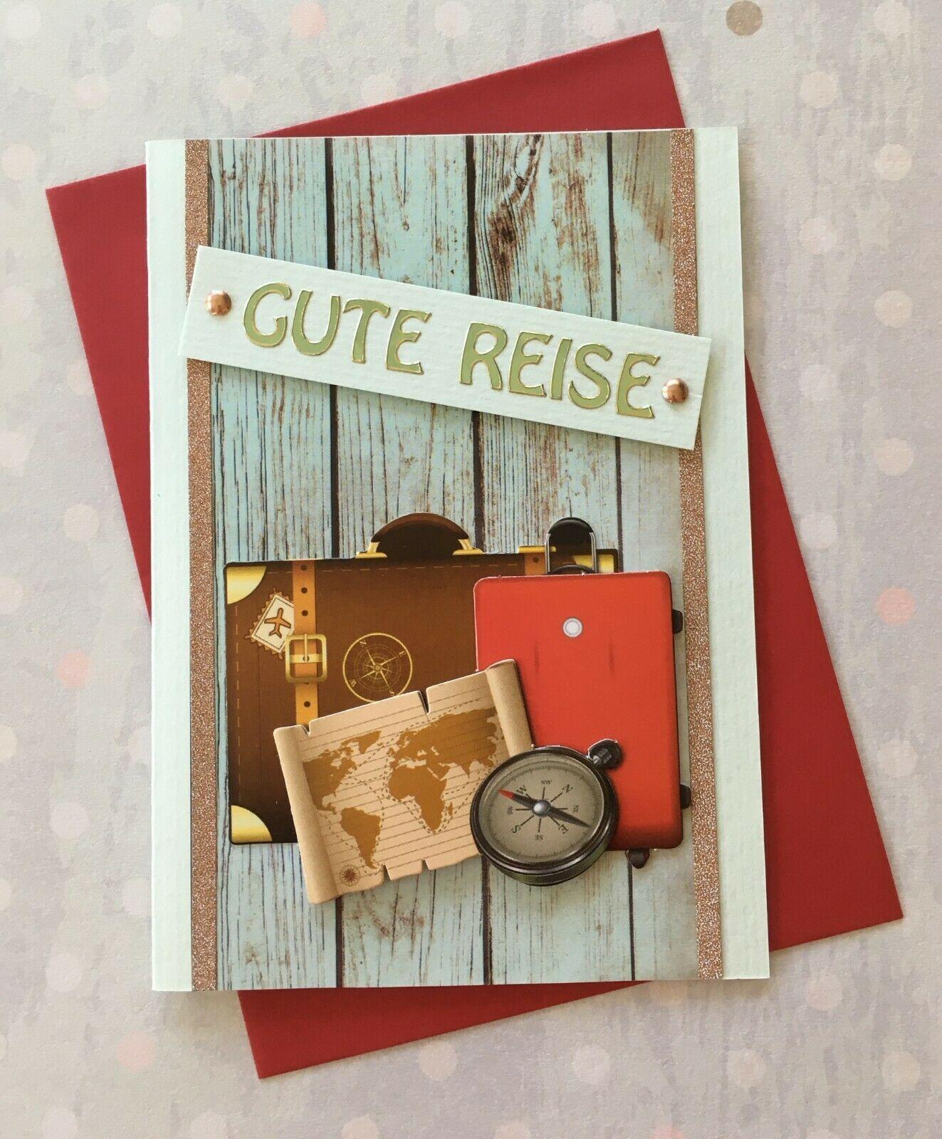 Grusskarte 3d Karte Urlaub Reise Koffer Geburtstag Handarbeit Gutschein Basteln Reise Gutschein Geburtstag Karten