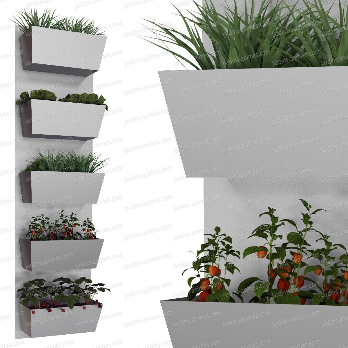 potager mural 5 bacs couleur au choix jardini re murale jardini res murales ext rieures et