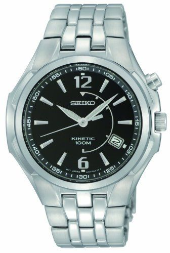 Seiko Men's SKA515 Kinetic No Battery Required Watch Seiko. $136.88. Luminous hands and markers. Kinetic. Water-resistant to 100 M (330 feet). Hardlex crystal. Date