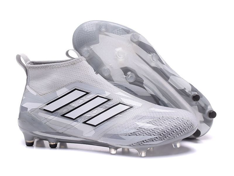 promo code 882e7 5d75b Adidas ACE 17+ Purecontrol Firm Ground Clear Grey Soccer Cleats