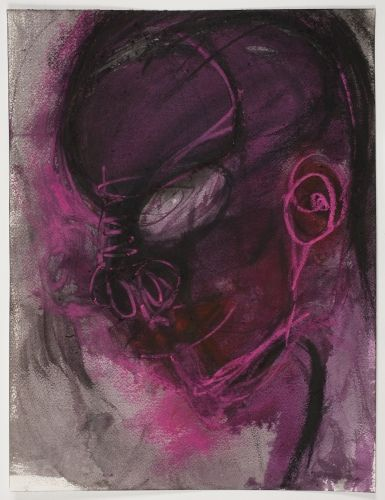 Huma Bhabha - though she is known for her sculpture, i am so taken by her small works on paper