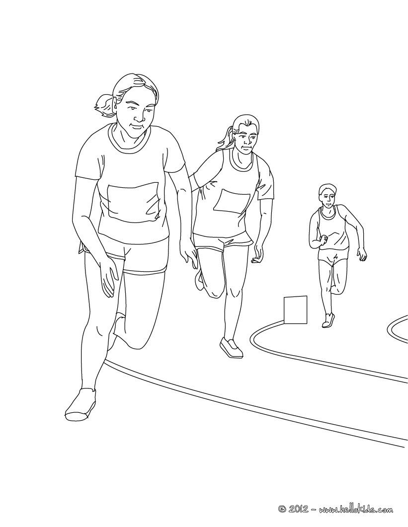 this beautiful 5000m race athletics coloring page from athletics