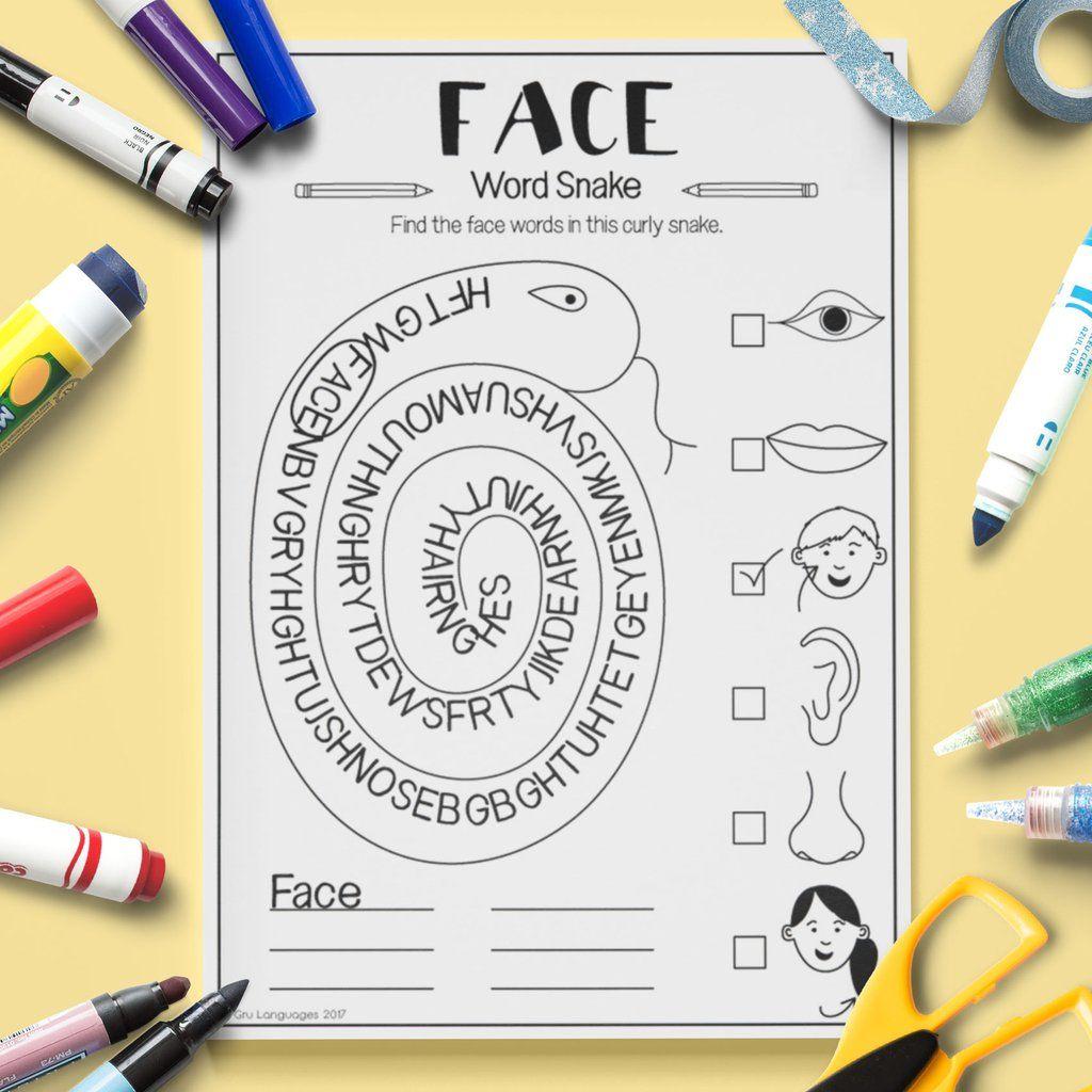 Face Word Snake