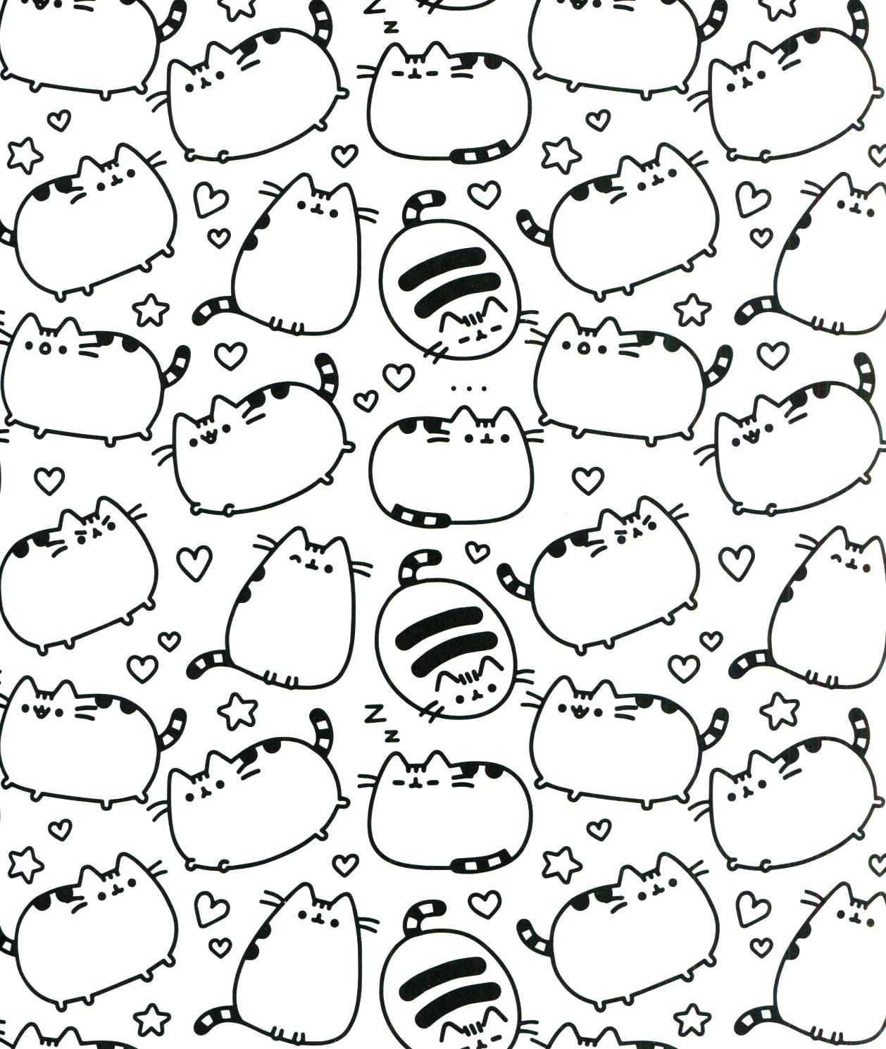 Pusheen Coloring Book Pusheen Pusheen the Cat   Pusheen Coloring ...