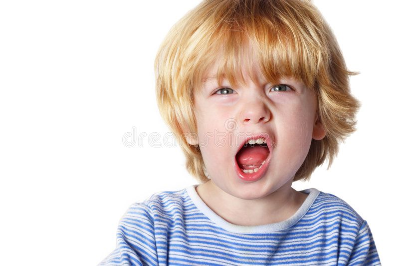 Aggression a toddler boy yelling ad toddler
