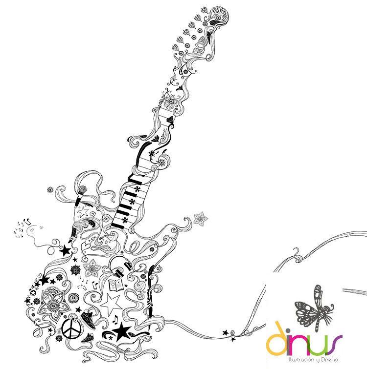 Guitarra De Violetta Violetta Diario Dibujos Ilustraciones