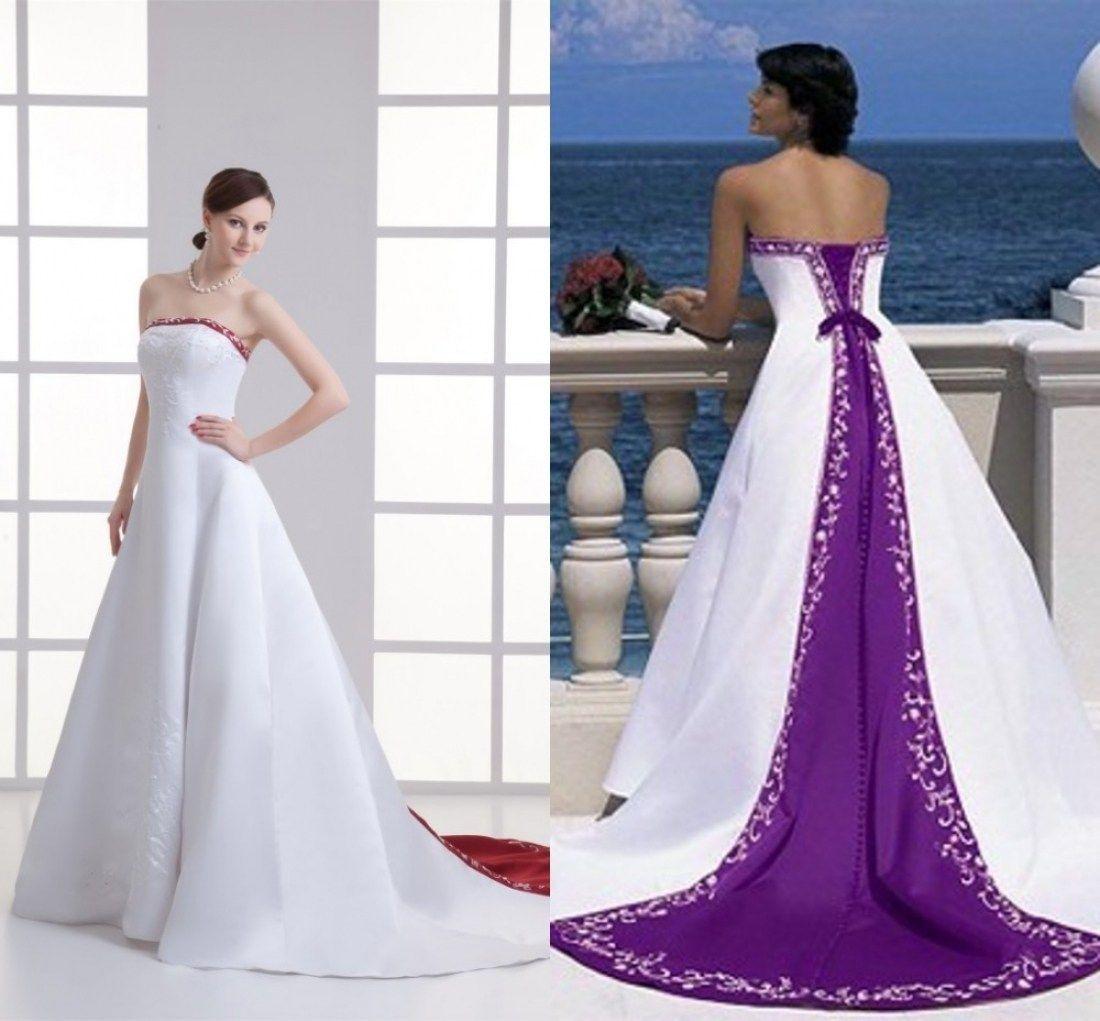 33 Beautiful Dark Purple And White Wedding Dresses | White wedding ...
