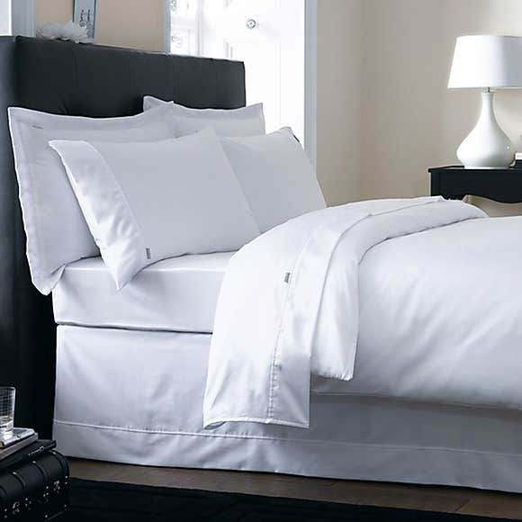 Dorma 500 Thread Count 100 Cotton Satin Plain White Duvet Cover White Duvet Covers Pink Duvet Cover White Linen Bedding