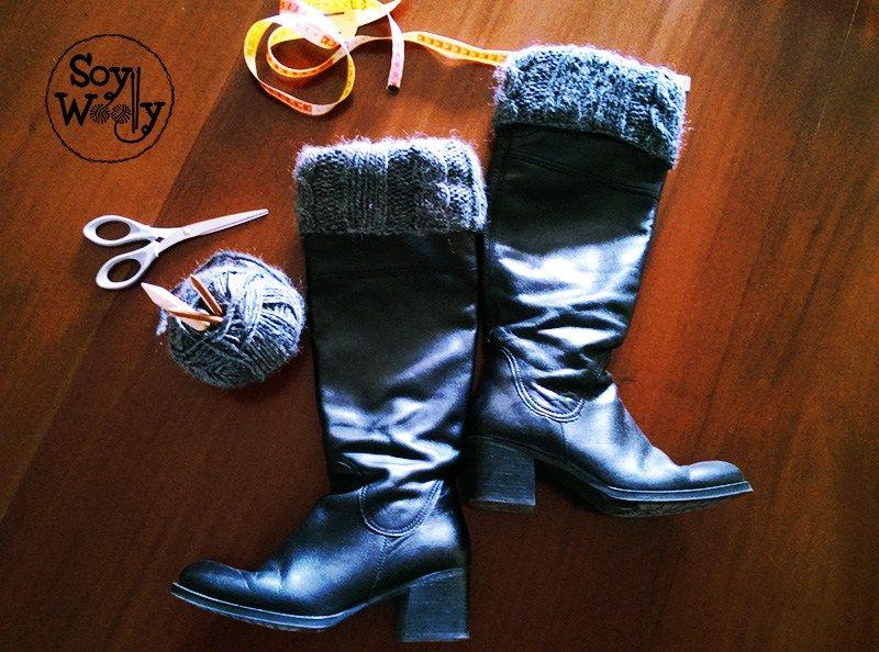 Como tejer calentadores, boot cuffs o polainas con dos agujas | Como ...