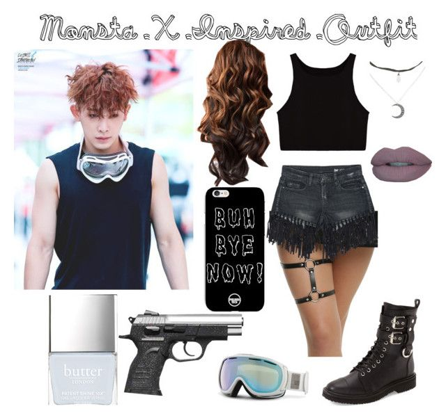 U0026quot;Monsta X Inspired Outfitu0026quot; by kpop51300 liked on Polyvore featuring Sans Souci Giro Giuseppe ...