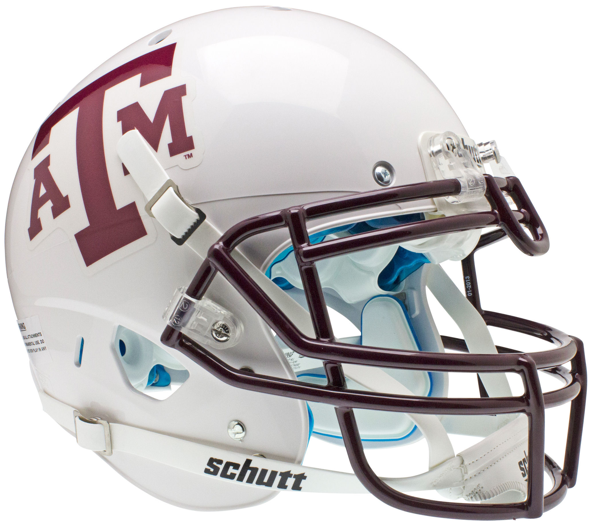 Texas A M Aggies Authentic College Xp Football Helmet Schutt White Maroon Mask Football Helmets South Carolina Gamecocks Texas Tech Red Raiders