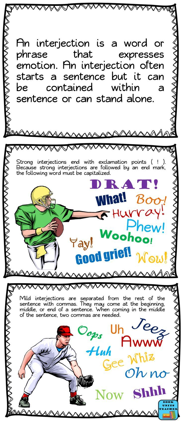 Parts of Speech Interjections Education quotes for