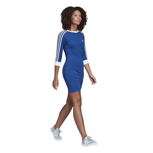 adidas 3-Stripes Dress Blauw dames | Kleding, Streep jurk ...