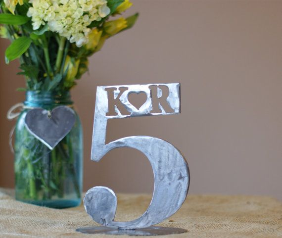 Personalized Metal Wedding Table Numbers 110 By Metalmeltersllc 120 00