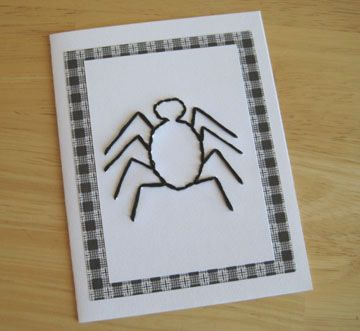 Spider Stitched Greeting Card Pattern