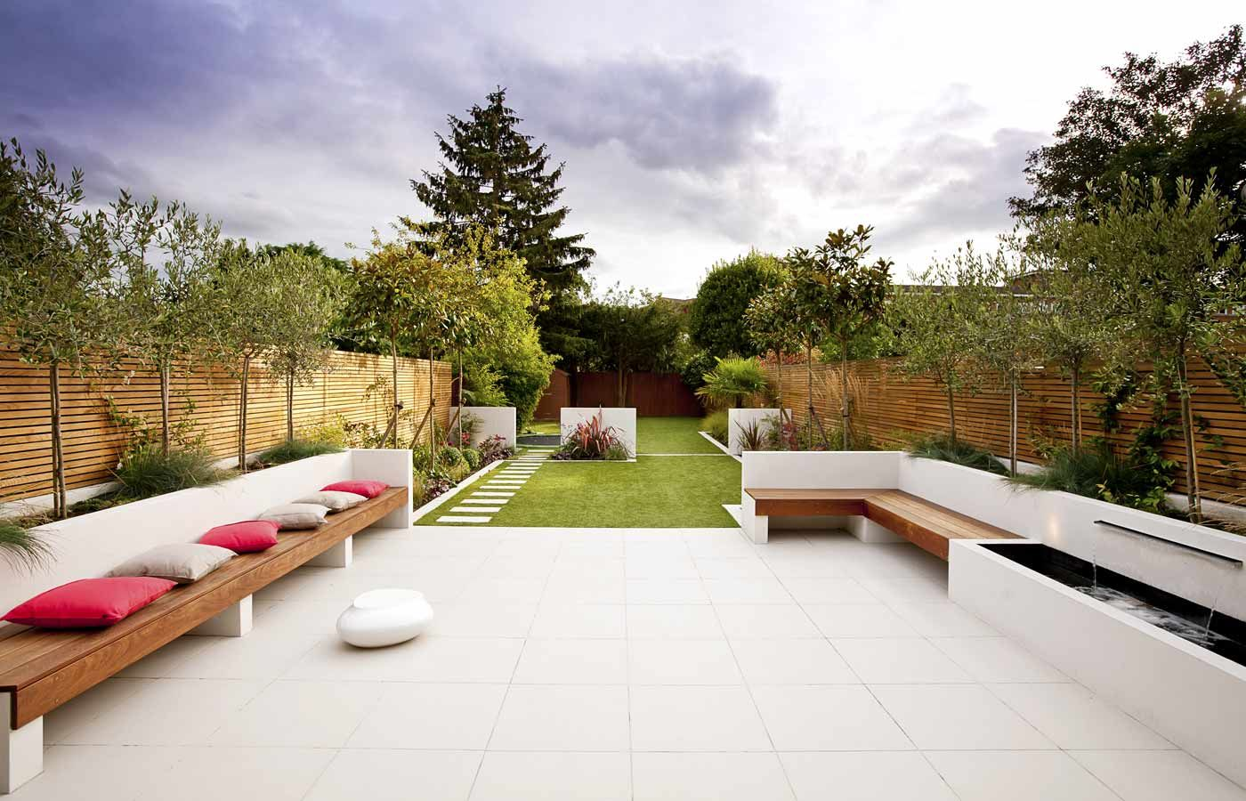 Garden design plans for long garden image17 rzuty for Long thin garden designs