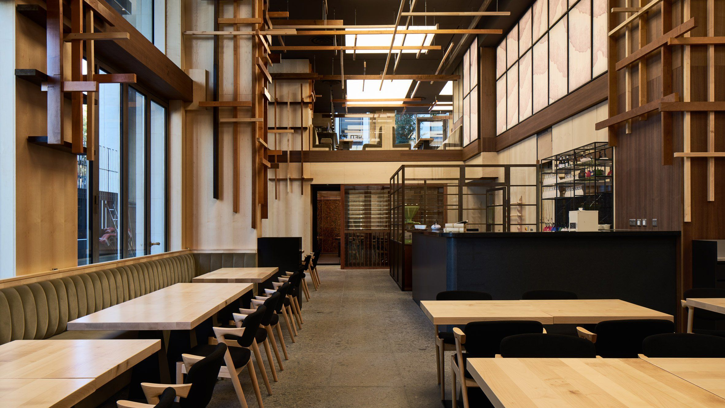 The Wood Lined Interior Of This Japanese Restaurant In London Was