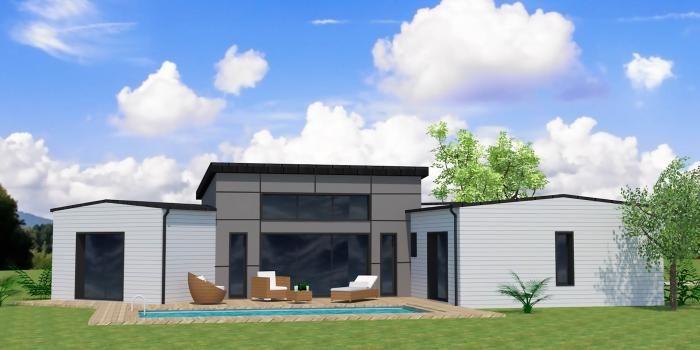 maison moderne bardage gris toit plat bac acier Maison bois - Modeles De Maisons Modernes