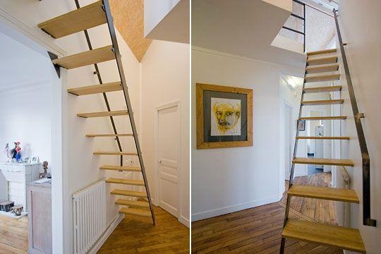 escalier grenier recherche google escalier pinterest. Black Bedroom Furniture Sets. Home Design Ideas