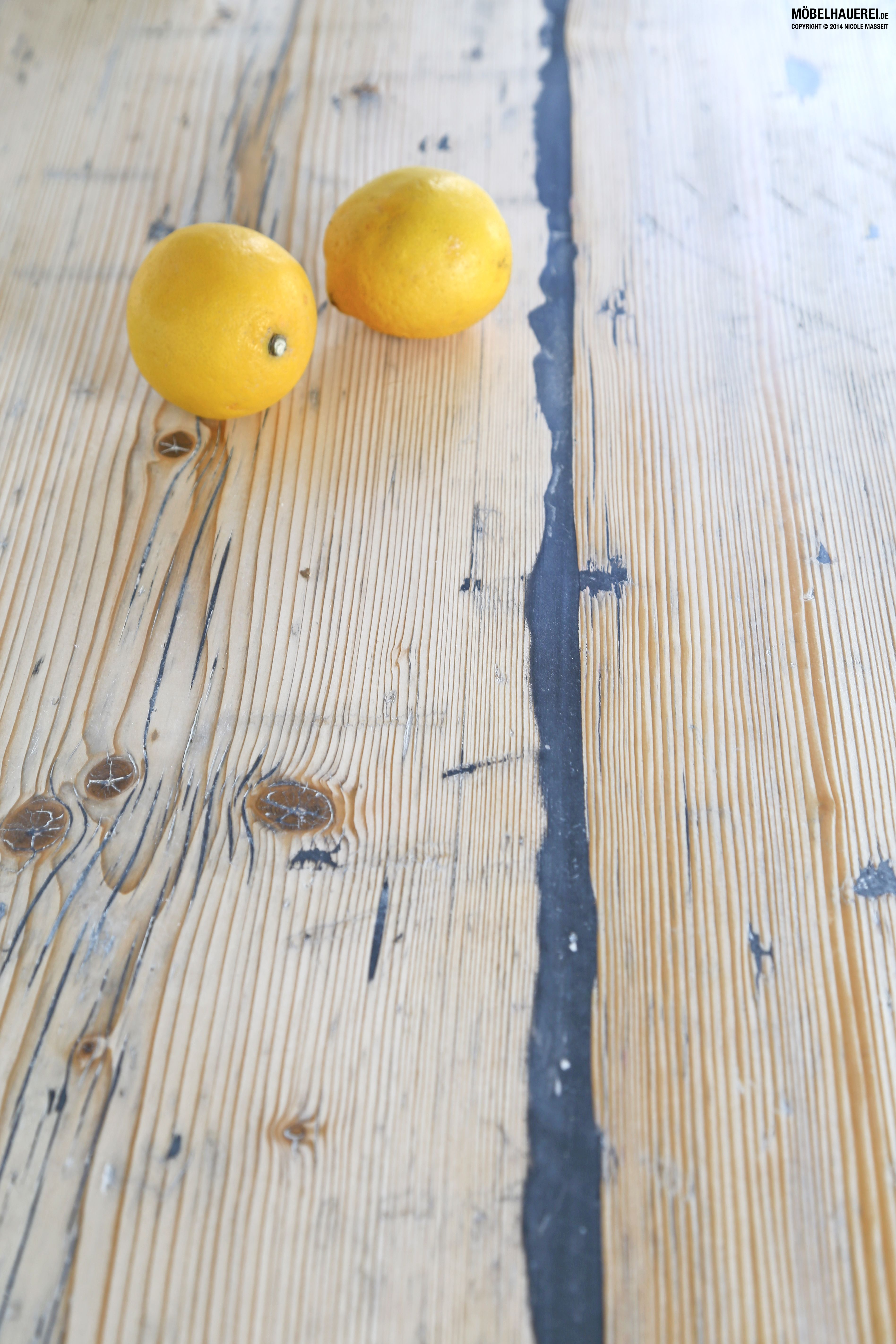 Küchenarbeitsplatte aus gebrauchten Gerüstbohlen, 45mm ...