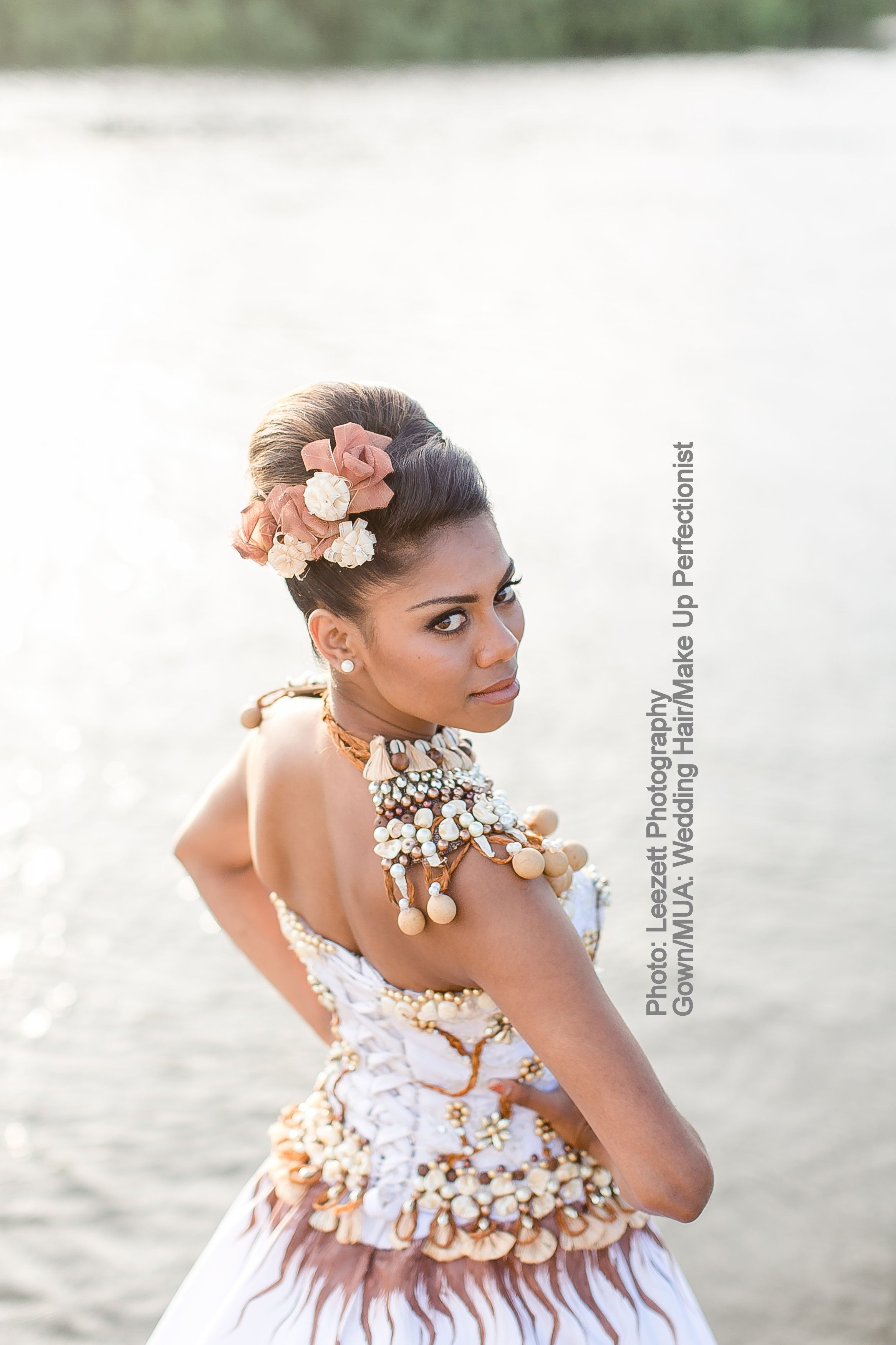 Shot by Leezett Photography. The gown, a blend of Itaukei and Indian ...