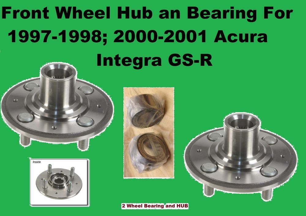 Front Wheel Bearing And Hub For 1997 1998 2000 2001 Acura Integra Gs R Pair Ebay Acura Integra Acura Wheel