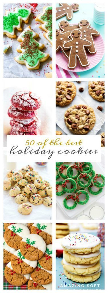 50 of the Best Holiday Cookies 50th, Holidays and Christmas cookies